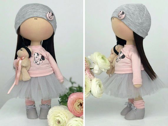 Textile doll Handmade doll Tilda doll Fabric doll Interior