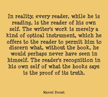 Marcel Proust Quote | The Book Habit