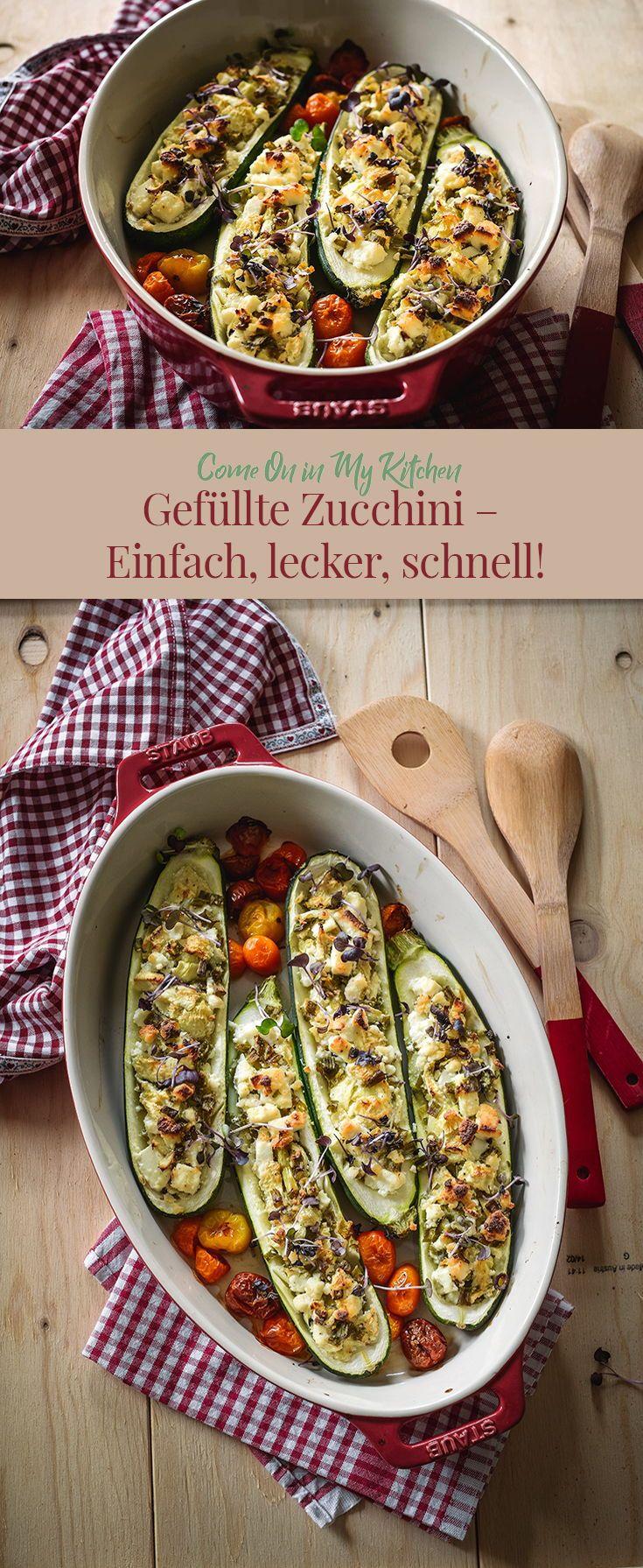 Gefüllte Zucchini - Einfach, lecker, schnell | Recipe | Schnelle ...
