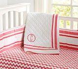 Harper Nursery Bedding Collection - Coral