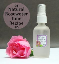 Homemade Rosewater Toner Recipe  A simple homemade rosewater recipe to keep skin looking and feeling healthy and balanced.