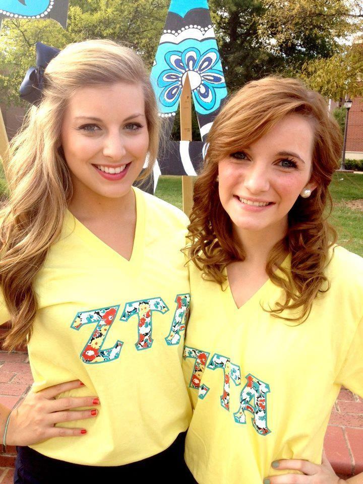 greek fashion ~ ZTA sunshine☺--found my sisters picture first when I typed ZTA!