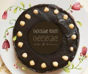 Vegan (glutenvrije) chocolade-hazelnoot cheesecake