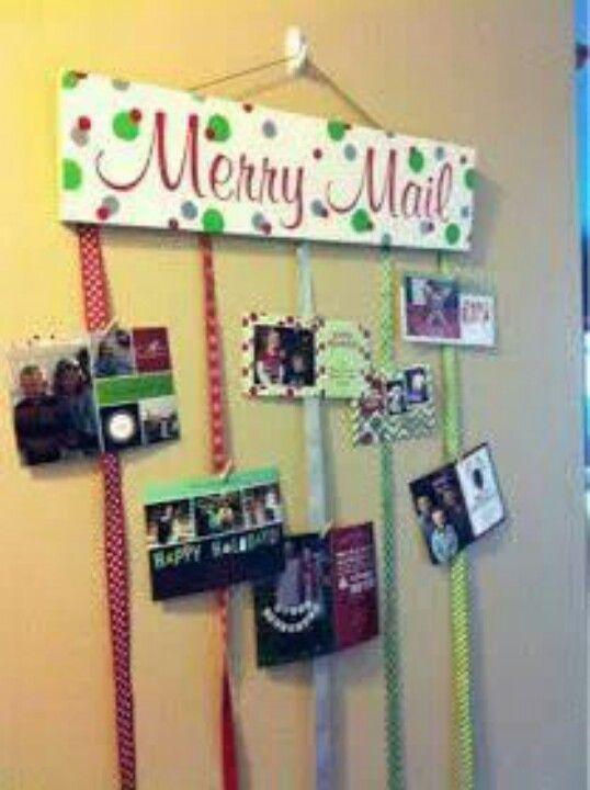 Cool Christmas card display