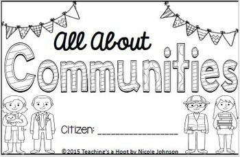 This 47-page social studies mini-book was created to help teach students all about communities.It covers the following topics: what is a community, who lives in a community, kinds of communities (urban, suburban, rural), community helpers, and the school community.Community helpers included in this book: police officers, firefighters, school workers, hospital workers, post officers, garbage collectors, veterinarians, dental workers, construction workers, shop keepers, librarians, food…