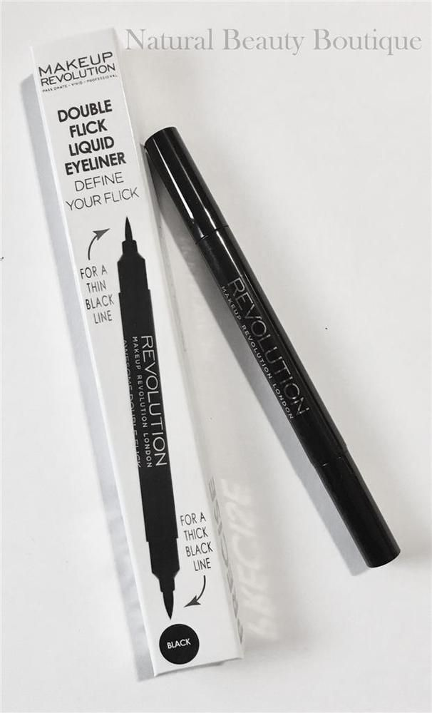 "Professional Definition and Flick Perfection. Define your line and your flick for any occasion. MAKEUP REVOLUTION. ""AWESOME DOUBLE FLICK"". LIQUID EYELINER. FELT PEN. Thick & Thin Liner. FREE Auctiva Image Hosting. 