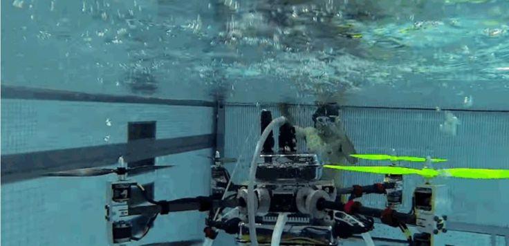 В Ратгерском университете, США, разработали дрон Naviator, способный не только летать, но и плавать под водой, используя пропеллеры, как гребные винты. Проект финансируется Управлением военно-морских исследований США. БЛА можно использовать для проведения разведывательных миссий, в которых актуальной становится способность затаиться под водой.