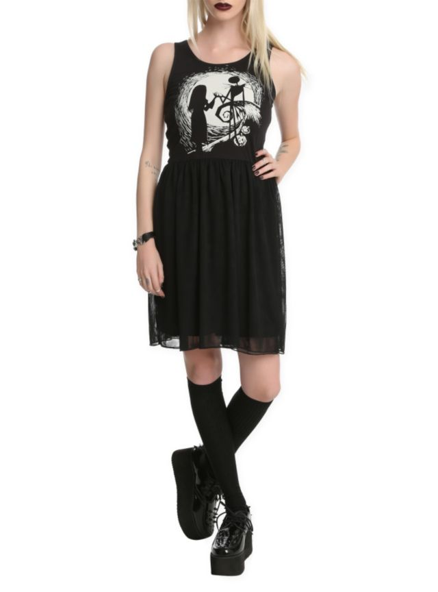 The Nightmare Before Christmas Jack And Sally Mesh Dress