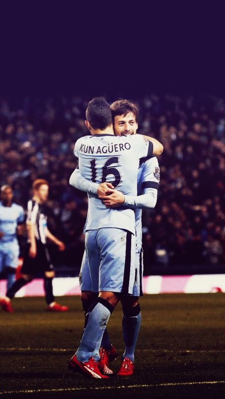 Kun Aguero and David Silva.