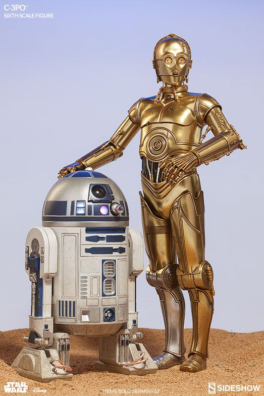 The C-3PO Sixth Scale Figure now available at Sideshow.com for fans of Star Wars!