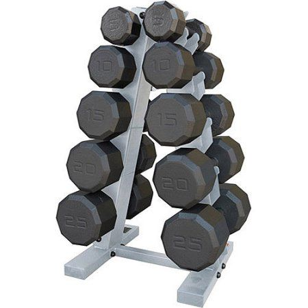 CAP Barbell 150-Pound Eco Dumbbell Weight Set with Rack, Black