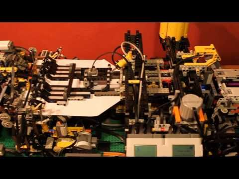 Lego paper plane folding machine V2.0.  This an AMAZING engineering feat!  What a great CTE-STEM project for up and coming automation Engineers to study.