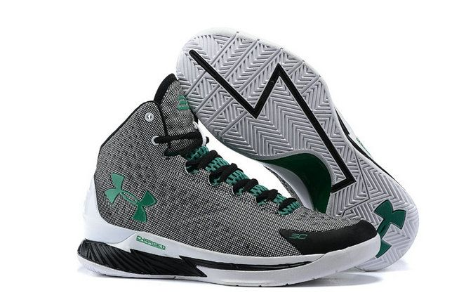 Free Shipping Only 69$ Big Boys UA Stephen Curry One 1 Dove Grey Green White