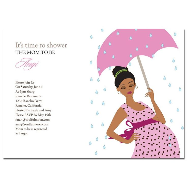 African American Baby Shower Invitations   Raining Mommy