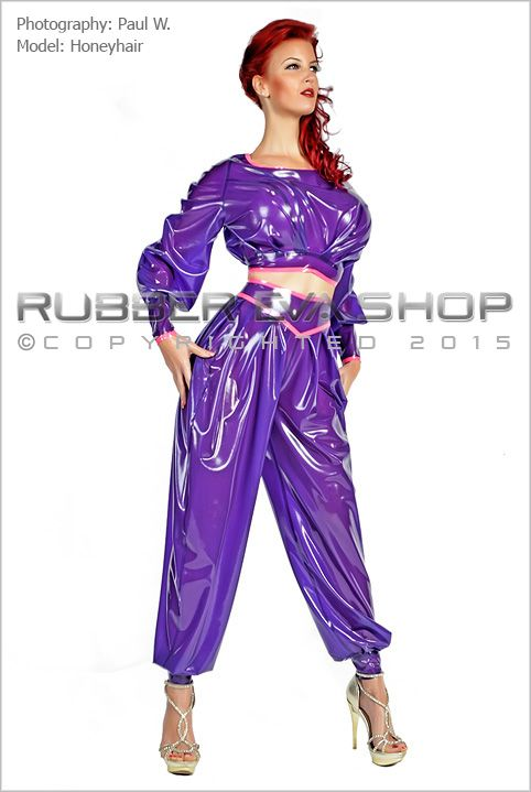 High Waist Rubber Harem Pants Rubber Bottoms Rubber
