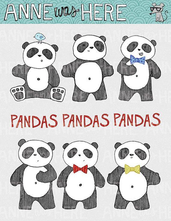 Pandas Pandas Pandas by AnneWasHere on Etsy, $5.00