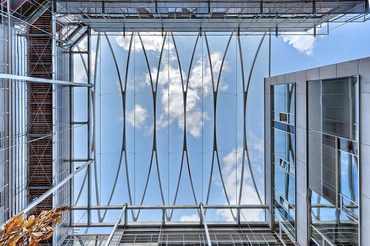 DWI, Aachen - Atrium - pneumatic ETFE-roofing - Temme Obermeier | Membrane Architects