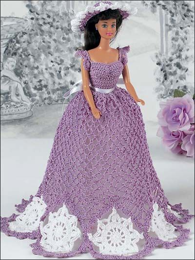 """Image detail for -... 11 1/2"""" fashion doll. Crocheted using size 10 crochet cotton thread"""