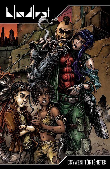 Bloodlust: Cryweni történetek antológia körborító (wraparound cover)