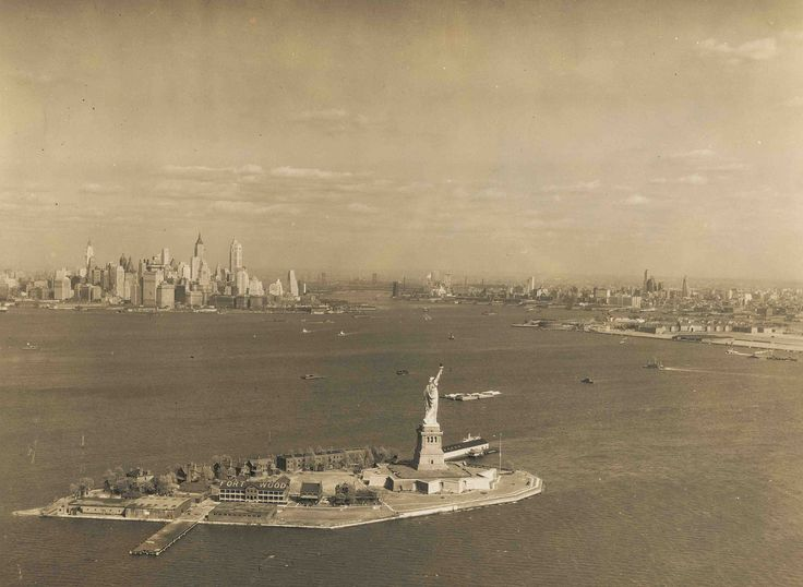 """Before it was called Liberty Island, Lady Liberty lived on """"Bedloe's Island,"""" an Army post where about 30 families lived in the 1930s.."""