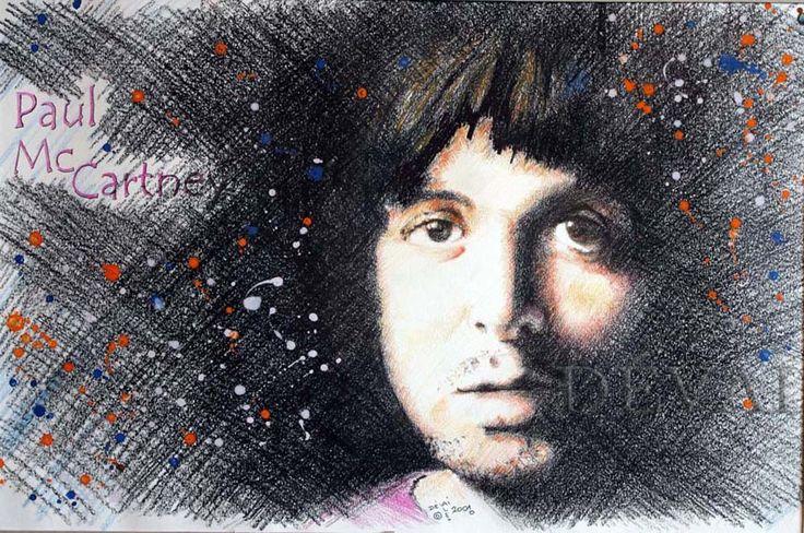 Grafik Alex Devai Color Pencil, aquarell Paul McCartney