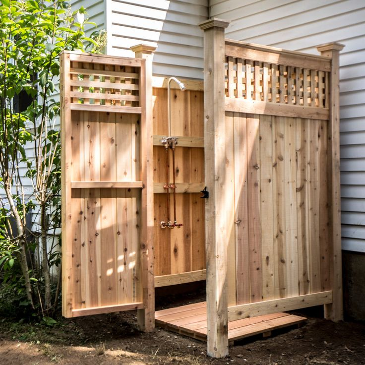 17 best images about outdoor shower enclosures on for Outdoor shower tower