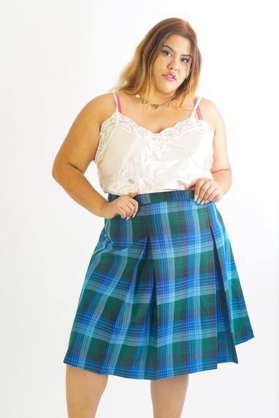 Vintage 90s Plaid Pleated Skirt - 2XL/3XL      #curvy #plussize #fashion #windbreaker #90s #alternativecurves #plussizemodel #unicorn #unicorntears #camo #camo #pants #style