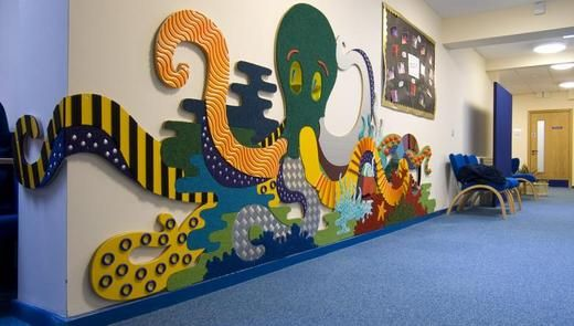 Might not work for TL, but could be cool for a hallway student project.  Sensory Calm Room Tactile Wall Mural Idea