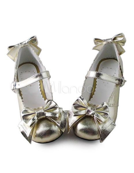 3b4a4c0c23d Sweet Lolita Lolita Shoes Square Heels with Bows and Trim Design  Shoes