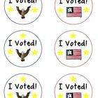 Are you holding classroom elections in honor of the upcoming Election Day?  If you are, these FREE I Voted! badges are for you!    If you like thes...