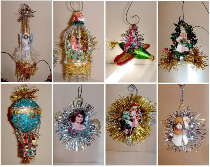 Victorian tinsel Christmas ornaments tutorial: ALTERED ARTIFACTS