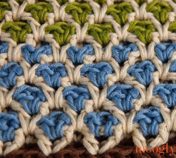 Free Moroccan Crochet Stitch Pattern... http://freecrochetpatterns3808.blogspot.com/