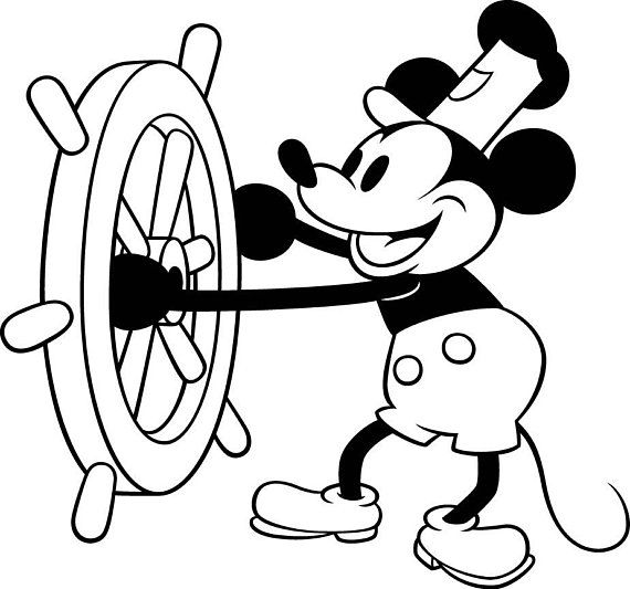 Disney Mickey Mouse Steamboat Willie Vinyl Decal For Cars