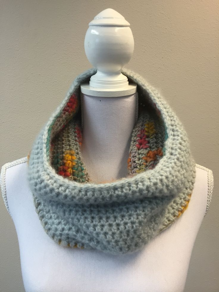 CROCHET Double face cowl