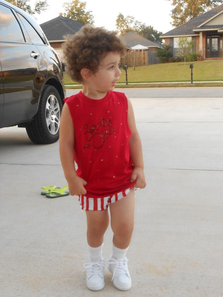 Richard Simmons Halloween Costume for kids. If only one of my boys had curly hair!! bahahaha