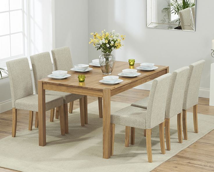 Buy The Oxford 150cm Solid Oak Dining Table With Mia Fabric Chairs At Oak  Furniture Superstore Part 57