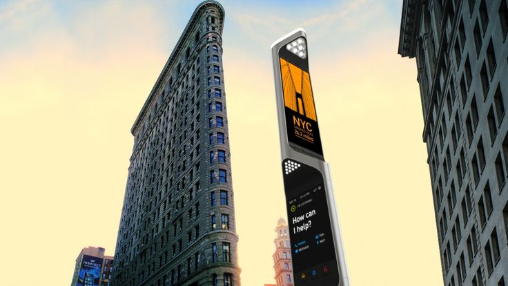 """NYC Beacon"" Product & Service Concept by Frog Design.  ""Payphone to better connect New Yorkers with the city's essential services"""