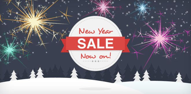 New Year Sale Banner #newyear #website #graphics #free