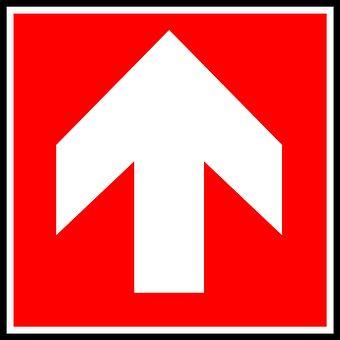 Arrow, Up, Sign, Symbol, Design