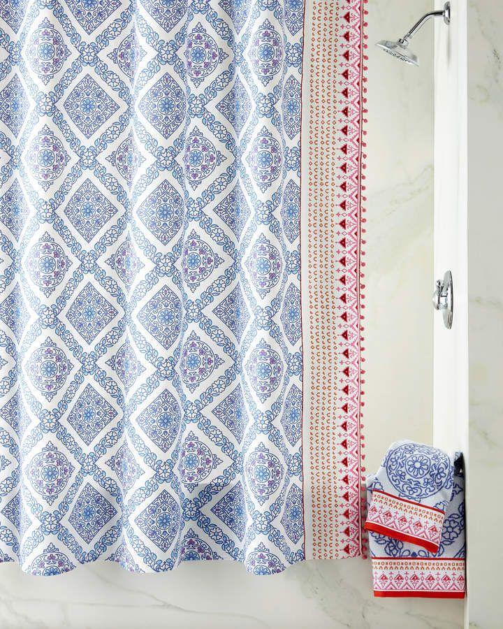 John Robshaw Mitta Periwinkle Shower Curtain Sponsored