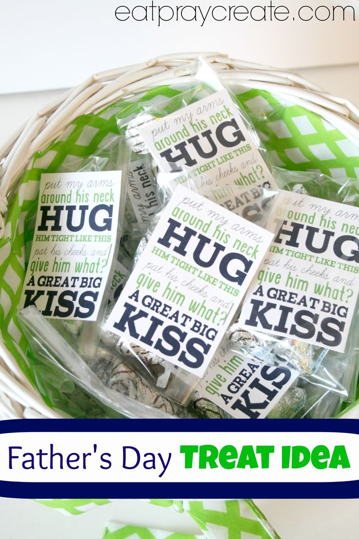 Just a little treat idea for all those wonderful dads out there for Father's Day. We made these for all the men at our church to hand out on this coming Father's Day…. You can find the printable over at Sister's Suitcase Blog! Supplies: Printable (download HERE) Small Clear baggies (found at the craft store or party store) Hugs and Kisses Stapler or scotch tape *Fill your baggies with hugs and kisses. Cut out tags and add them by putting  {Read More}