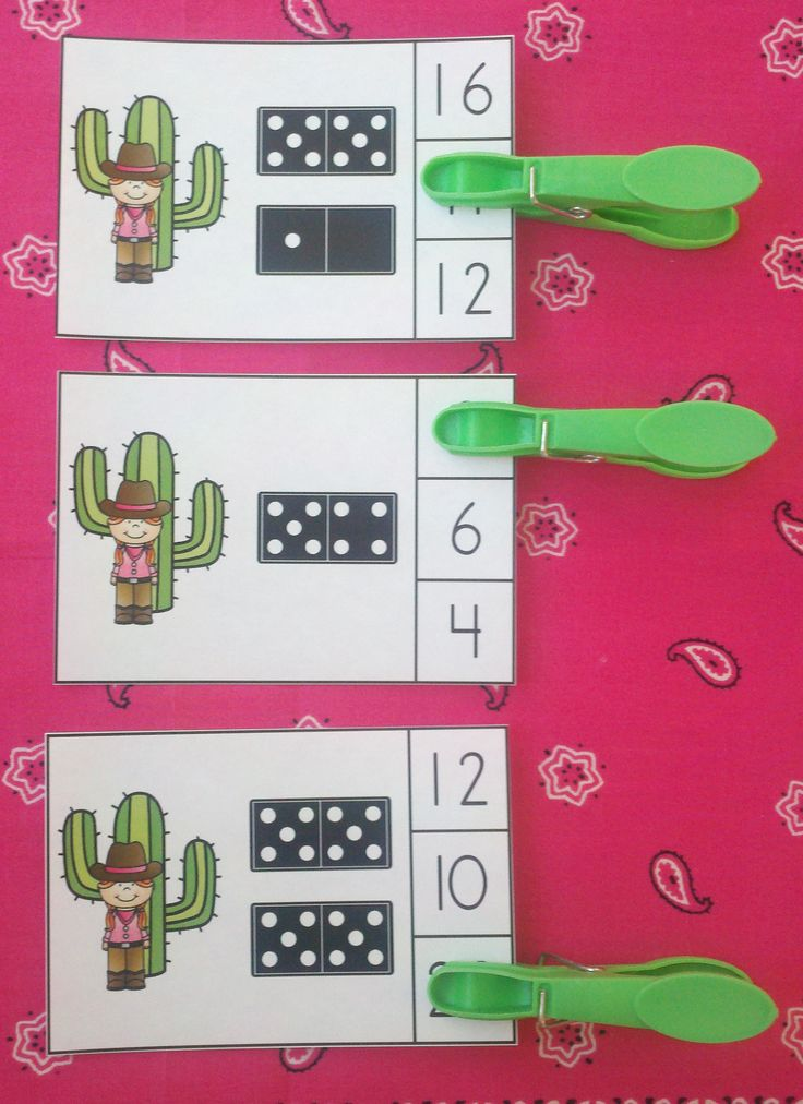 Engaging Math Centers for Your Little Buckaroos!   $   #cowgirls #dominoes…