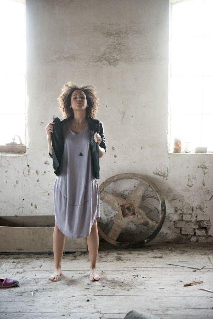 Tunika Morning Dew Srebrna  | www.kokoworld.pl #kokoworld #handmade #fairtrade #fashion #summer #dress