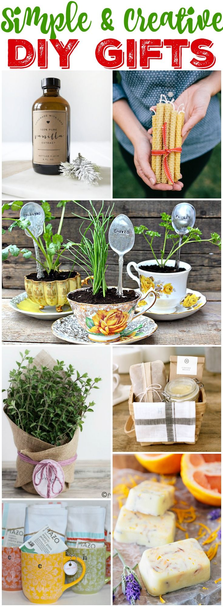 Simple & Creative DIY Gift Ideas perfect for teacher gifts, hostess gifts, colleague gifts at thehappyhousie.com