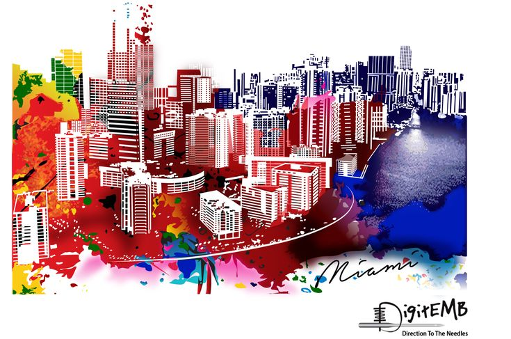 Delight Colorful Downtown Vector Design