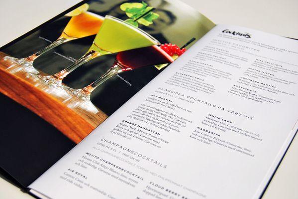 Invito bar menu by Mattias Sahlén, via Behance