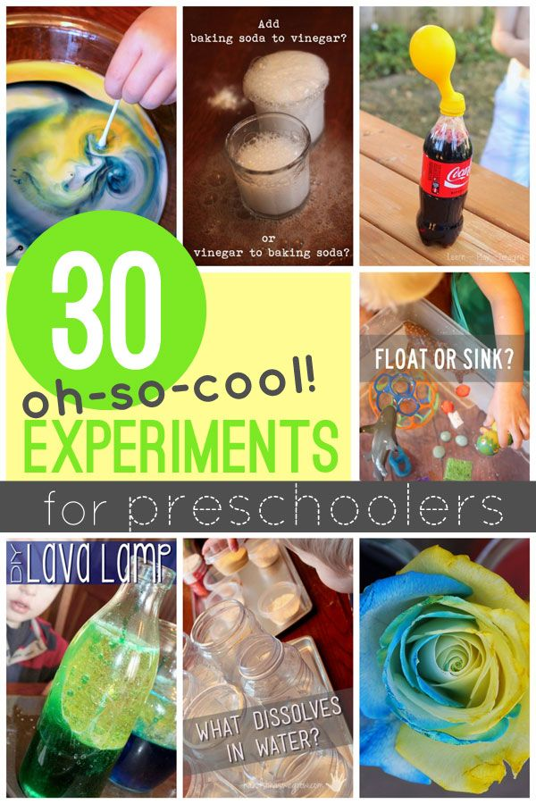30 very cool science experiments for preschooler to try