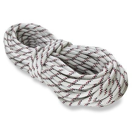 PMI E-Z Bend Sport Static Rope - 11mm x 46m White/Black&Red 11 Mm X 150 Ft