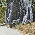 Enfin un peu de liberty sur ce blog! Voici une jupe longue à volant en liberty. Ce model est vraiment idéal pour l'été et trés...