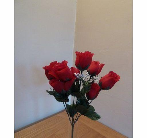 UK-Gardens HomeAndGarden.UK Bunch of Red Roses Artificial Silk Flower Stem Spray Bouquet Arrangement No description (Barcode EAN = 5055576406560). http://www.comparestoreprices.co.uk/flowers-and-flower-delivery/uk-gardens-homeandgarden-uk-bunch-of-red-roses-artificial-silk-flower-stem-spray-bouquet-arrangement.asp